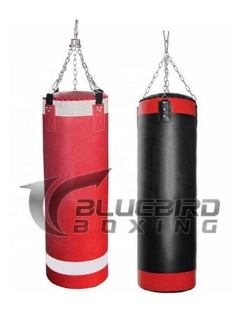 boxing kicking heavy punching bag
